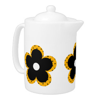 Polka Dot Party Flower in Yellow