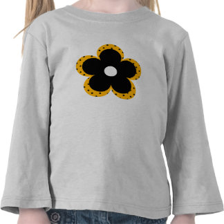 Polka Dot Party Flower in Yellow T-shirts