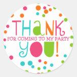 Polka Dot Party Hooray Thank You Favor Sticker