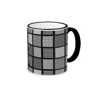 Polka Dot Patchwork Pattern Ringer Mug
