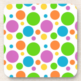 Polka Dot Pattern Beverage Coaster