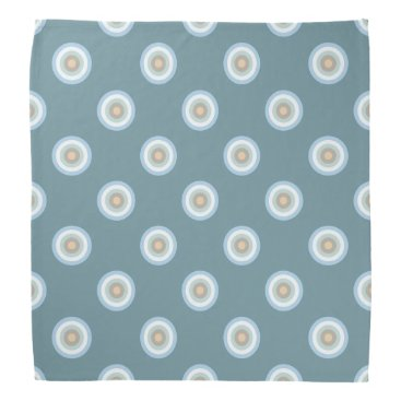 Beach Themed Polka Dot Pattern -Blue Brown Sand Beige Turquoise Bandana