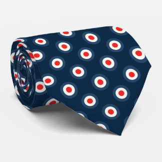 Polka Dot Pattern - Blue Red White Tie