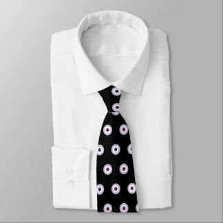Polka Dot Pattern - Blue Violet Gray White Black Neck Tie