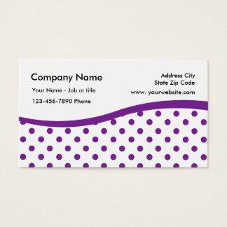 Polka Dot Pattern Business Cards