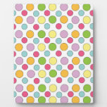 Polka-dot Pattern - Colored dots Display Plaque
