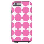 Polka Dot Pattern Design Hot Pink Polka Dots Tough iPhone 6 Case