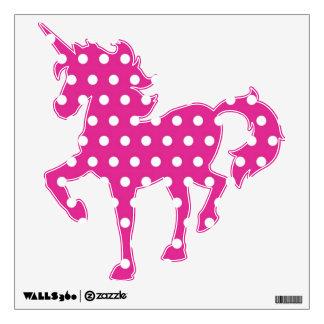 Polka Dot Pattern Fantasy Unicorn Wall Decals