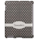 Polka Dot Pattern in Charcoal & White iPad Cover
