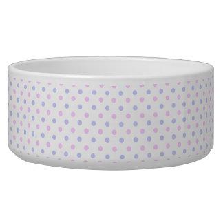 Polka Dot Pattern - Pale Pink and Pale Purple Bowl