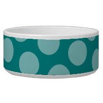 Polka Dot Pattern Pet Bowl