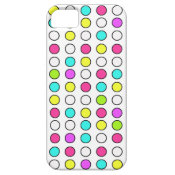 Polka Dot Pattern Pink Teal Lime Green Yellow iPhone 5 Case