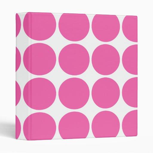 Polka Dot Pattern Print Design Hot Pink Polka Dots Binder