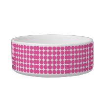 Polka Dot Pattern Print Design Hot Pink Polka Dots Bowl