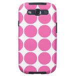 Polka Dot Pattern Print Design Hot Pink Polka Dots Samsung Galaxy S3 Cases