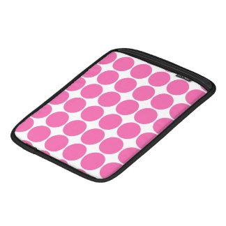 Polka Dot Pattern Print Design Hot Pink Polka Dots Sleeves For iPads