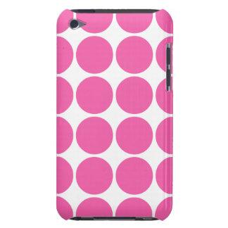 Polka Dot Pattern Print Design Hot Pink Polka Dots iPod Touch Covers