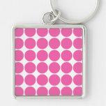 Polka Dot Pattern Print Design Hot Pink Polka Dots Key Chains
