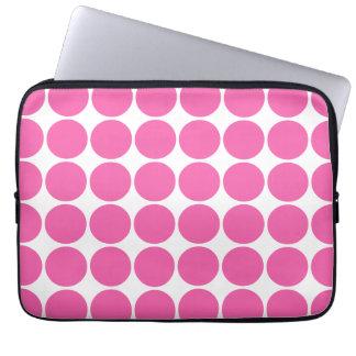 Polka Dot Pattern Print Design Hot Pink Polka Dots Computer Sleeves