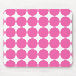 Polka Dot Pattern Print Design Hot Pink Polka Dots Mouse Pad