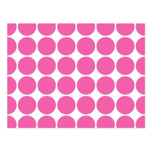 Polka Dot Pattern Print Design Hot Pink Polka Dots Post Cards