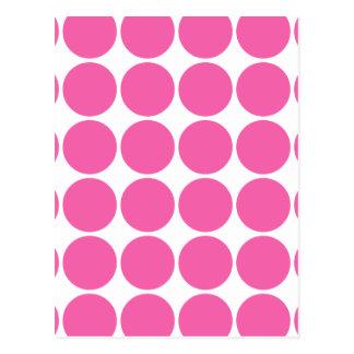 Polka Dot Pattern Print Design Hot Pink Polka Dots Postcard