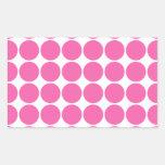 Polka Dot Pattern Print Design Hot Pink Polka Dots Stickers