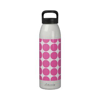 Polka Dot Pattern Print Design Hot Pink Polka Dots Reusable Water Bottles