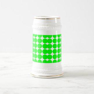 Polka Dot Pattern Print Design : Lime Polka Dots Beer Stein
