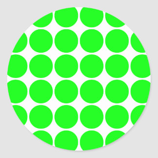 Polka Dot Pattern Print Design : Lime Polka Dots Classic Round Sticker