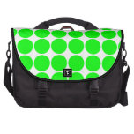 Polka Dot Pattern Print Design : Lime Polka Dots Laptop Commuter Bag