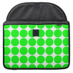 Polka Dot Pattern Print Design : Lime Polka Dots Sleeves For MacBooks