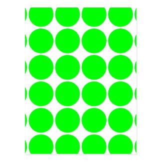 Polka Dot Pattern Print Design : Lime Polka Dots Postcard