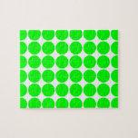 Polka Dot Pattern Print Design : Lime Polka Dots Puzzle