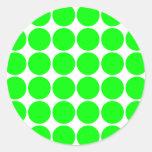 Polka Dot Pattern Print Design : Lime Polka Dots Stickers