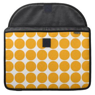 Polka Dot Pattern Print Design : Orange Polka Dots MacBook Pro Sleeves