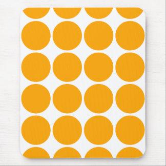 Polka Dot Pattern Print Design : Orange Polka Dots Mouse Pad