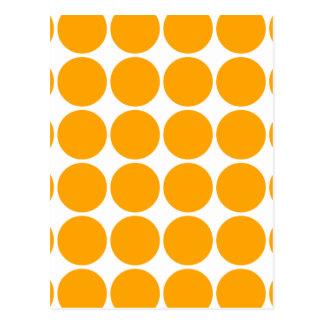 Polka Dot Pattern Print Design : Orange Polka Dots Postcard