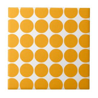 Polka Dot Pattern Print Design : Orange Polka Dots Tile