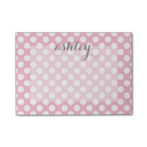 Polka Dot Pattern with Custom Name Post-it Notes