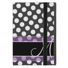 Polka Dot Pattern With Monogram Cover For Ipad Mini at Zazzle