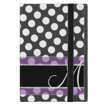 Polka Dot Pattern with Monogram iPad Mini Cases