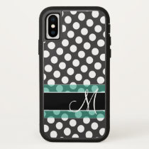 Polka Dot Pattern with Monogram iPhone X Case