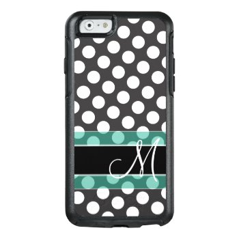Polka Dot Pattern With Monogram Otterbox Iphone 6/6s Case by icases at Zazzle