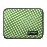 Polka Dot Pattern with Name - green and black MacBook Air Sleeve