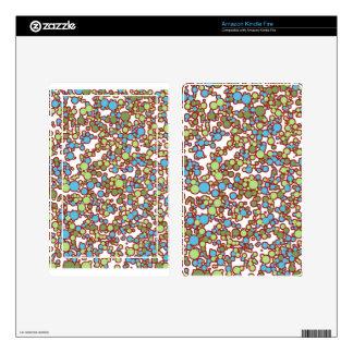 Polka Dot Pebbles Skins For Kindle Fire