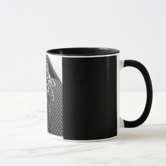 Polka Dot Peel off illusion glass Mug
