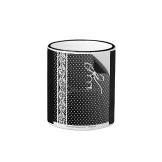 Polka Dot Peel off illusion glass Ringer Mug