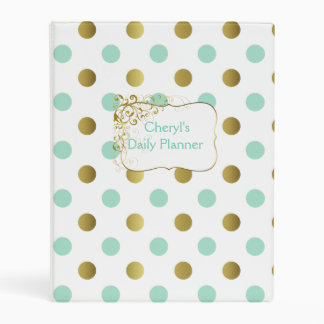 Polka Dot Personalized Daily Planner Binder