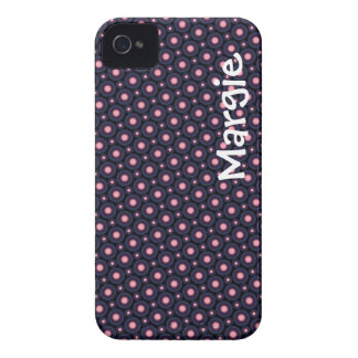 Polka Dot Personalized iPhone Case Template iPhone 4 Cases